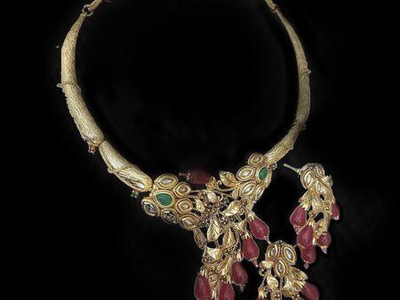 Planted-Beauty Ruby Kundan Necklace