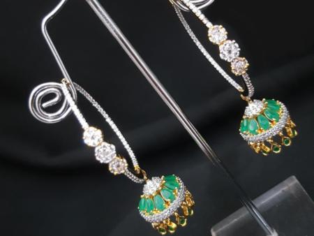 Miniature Green Jhumkas