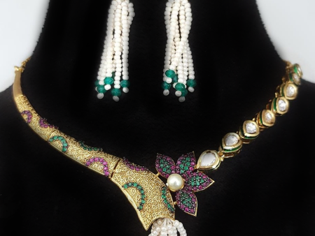 Asymmetrical Necklace set