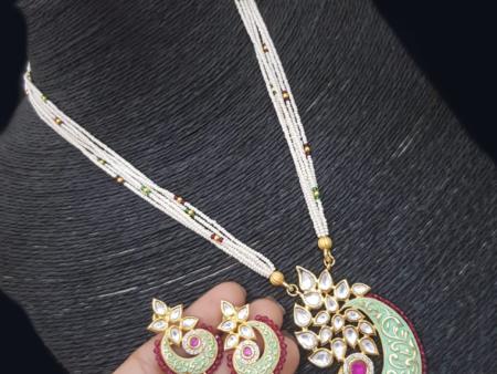 Mint Mango Kundan Set