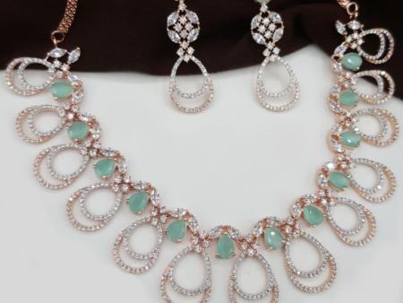 Diamond Droplets Necklace Set