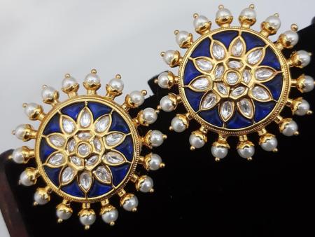 Classy Navy Blue Earrings