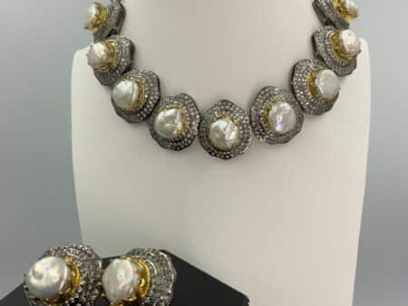 Baroque Pearl Glam Statement Necklace