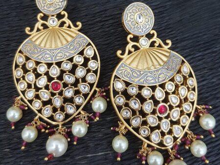 Kundan And Minakari Infused Earrings